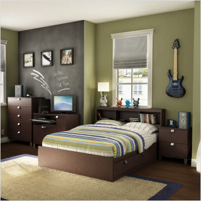 North carolina heelsqueen size sideline bedroom black for Full bedroom furniture sets