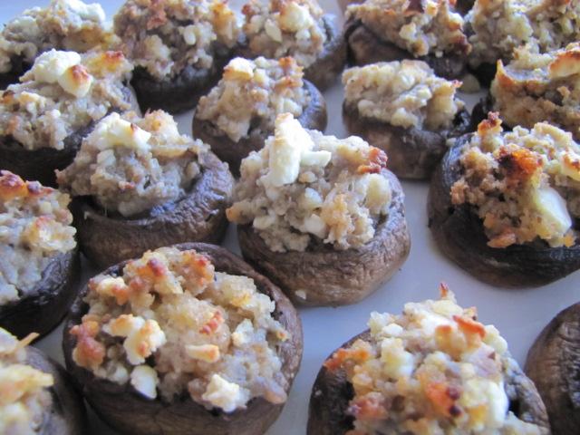 Feta Stuffed Mushrooms | Tickled Red